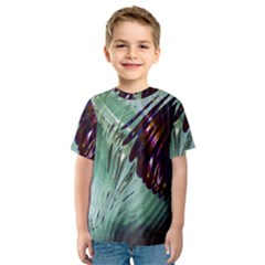 Out Of Time Glass Pearl Flowag Kids  Sport Mesh Tee