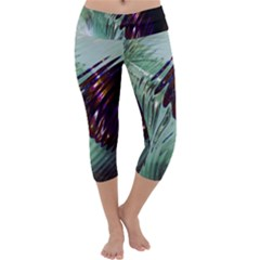 Out Of Time Glass Pearl Flowag Capri Yoga Leggings