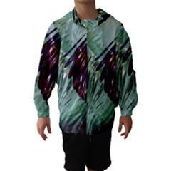 Out Of Time Glass Pearl Flowag Hooded Wind Breaker (Kids)