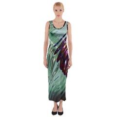 Out Of Time Glass Pearl Flowag Fitted Maxi Dress