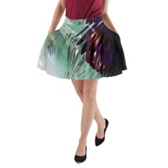 Out Of Time Glass Pearl Flowag A-Line Pocket Skirt