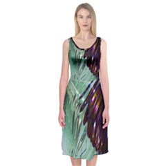 Out Of Time Glass Pearl Flowag Midi Sleeveless Dress