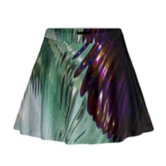 Out Of Time Glass Pearl Flowag Mini Flare Skirt