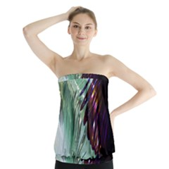 Out Of Time Glass Pearl Flowag Strapless Top