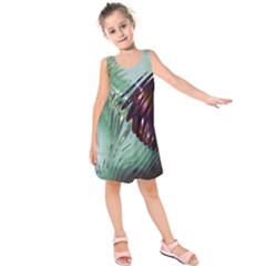 Out Of Time Glass Pearl Flowag Kids  Sleeveless Dress