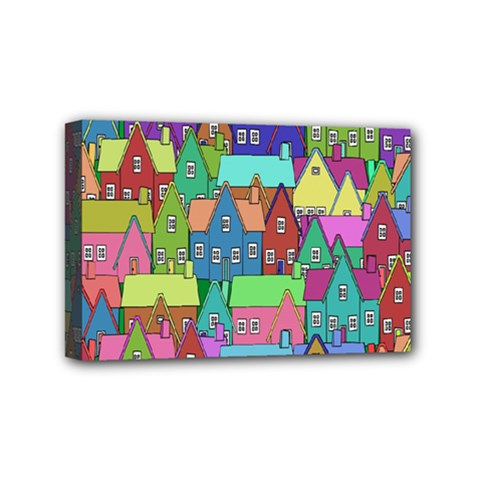 Neighborhood In Color Mini Canvas 6  x 4