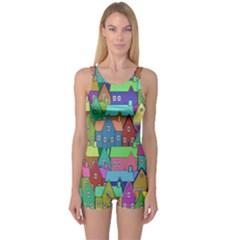 Neighborhood In Color One Piece Boyleg Swimsuit