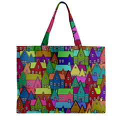 Neighborhood In Color Zipper Mini Tote Bag