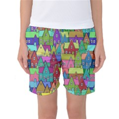 Neighborhood In Color Women s Basketball Shorts
