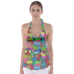 Neighborhood In Color Babydoll Tankini Top