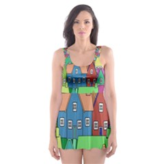 Neighborhood In Color Skater Dress Swimsuit