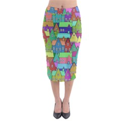 Neighborhood In Color Midi Pencil Skirt