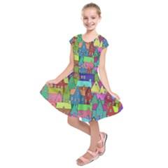Neighborhood In Color Kids  Short Sleeve Dress