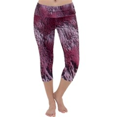 Texture Background Capri Yoga Leggings