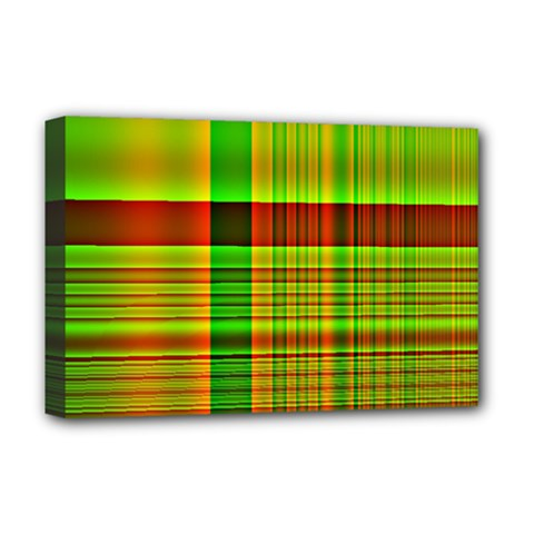 Multicoloured Background Pattern Deluxe Canvas 18  x 12