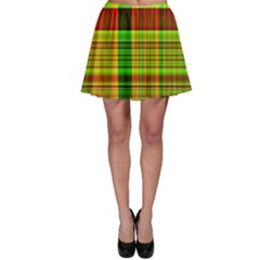 Multicoloured Background Pattern Skater Skirt