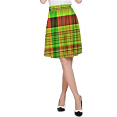 Multicoloured Background Pattern A Line Skirt