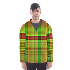 Multicoloured Background Pattern Hooded Wind Breaker (men)