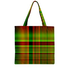 Multicoloured Background Pattern Zipper Grocery Tote Bag