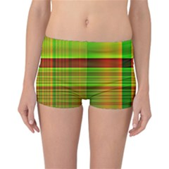 Multicoloured Background Pattern Reversible Bikini Bottoms