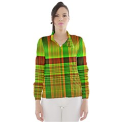 Multicoloured Background Pattern Wind Breaker (Women)