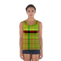 Multicoloured Background Pattern Women s Sport Tank Top