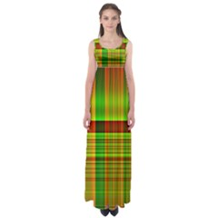 Multicoloured Background Pattern Empire Waist Maxi Dress