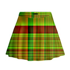Multicoloured Background Pattern Mini Flare Skirt