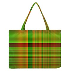 Multicoloured Background Pattern Medium Zipper Tote Bag