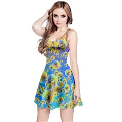 Color Particle Background Reversible Sleeveless Dress