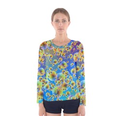 Color Particle Background Women s Long Sleeve Tee