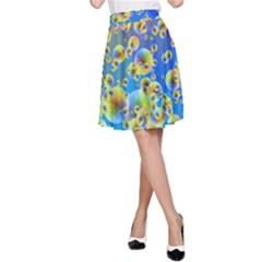 Color Particle Background A Line Skirt
