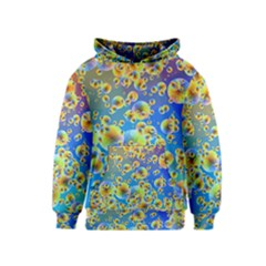Color Particle Background Kids  Pullover Hoodie