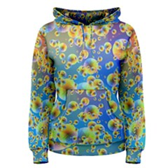 Color Particle Background Women s Pullover Hoodie