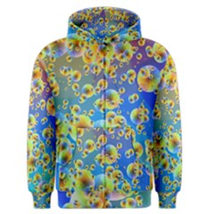Color Particle Background Men s Zipper Hoodie