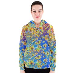 Color Particle Background Women s Zipper Hoodie