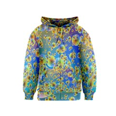 Color Particle Background Kids  Zipper Hoodie