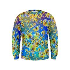 Color Particle Background Kids  Sweatshirt