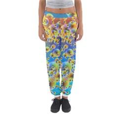 Color Particle Background Women s Jogger Sweatpants