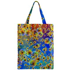 Color Particle Background Zipper Classic Tote Bag