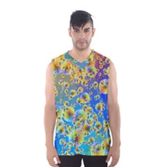 Color Particle Background Men s Basketball Tank Top