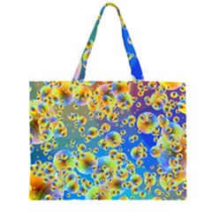 Color Particle Background Large Tote Bag