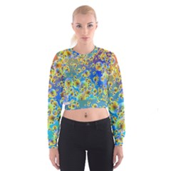 Color Particle Background Cropped Sweatshirt
