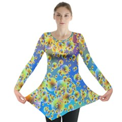 Color Particle Background Long Sleeve Tunic