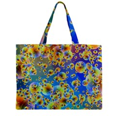 Color Particle Background Medium Tote Bag