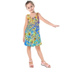 Color Particle Background Kids  Sleeveless Dress