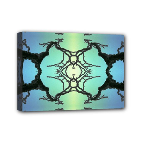 Branches With Diffuse Colour Background Mini Canvas 7  X 5