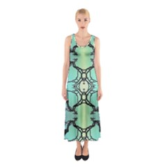 Branches With Diffuse Colour Background Sleeveless Maxi Dress