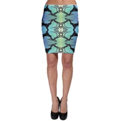 Branches With Diffuse Colour Background Bodycon Skirt
