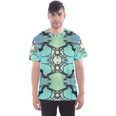 Branches With Diffuse Colour Background Men s Sport Mesh Tee
